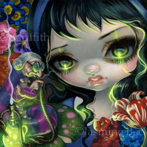 Fairy Faces 238 Jasmine Becket-Griffith alice in wonderland  SIGNED 6x6 PRINT