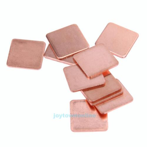 10 pcs 15mmx15mm 0.3mm to 2mm Heatsink Copper Shim Thermal Pads for Laptop #JT1