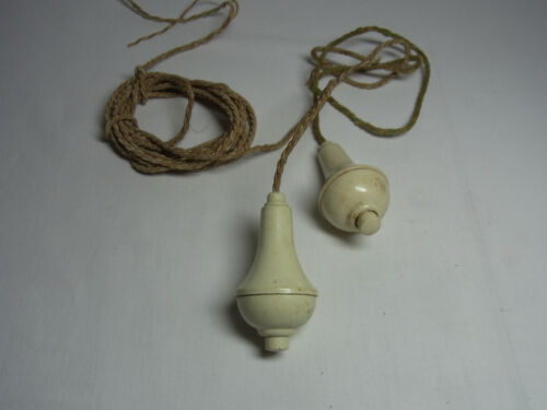 2 German Art Deco Bauhaus Ring Bell Ringer Servant Push Button #U