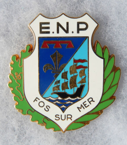 INSIGNE POLICE - OBSOLETE - POLICE NATIONALE - E. N. P. FOS SUR MER