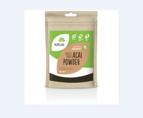 6 x 75g LOTUS Acai Powder Freeze Dried Organic 450g