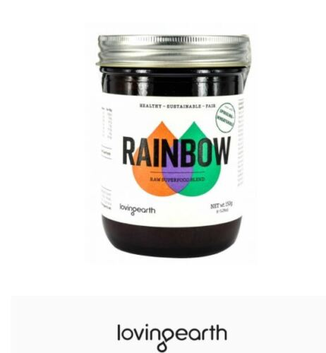 2 x 150g LOVING EARTH Raw Superfood Blend RAINBOW POWDER 300g