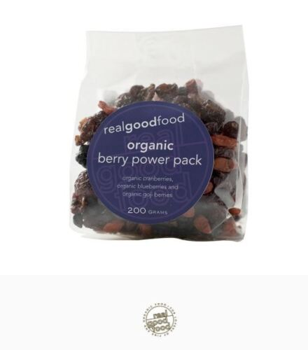 5 x 200g REAL GOOD FOOD Organic Berry Power Pack ( total 1kg )