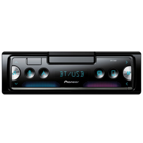 Pioneer DIN Bluetooth AM/FM USB AUX CD Player Car Stereo w/ Built-in Amp