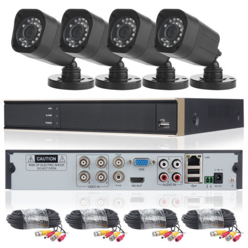 DID 4CH 1080N DVR Home CCTV Security Camera System 720P IP65 + 4 Outdoor Cameras