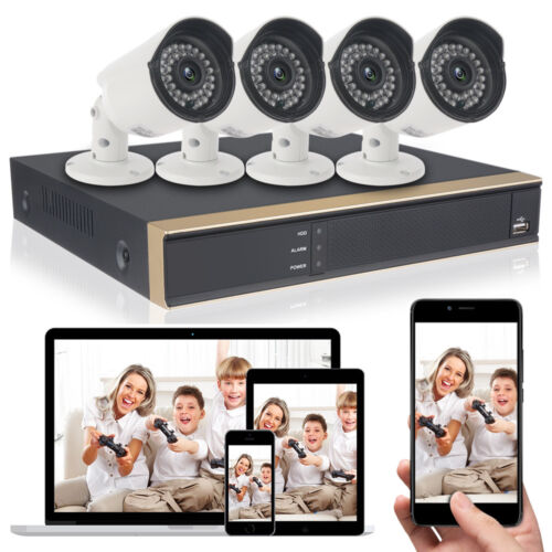 DID 4CH 1080N HDMI DVR Recorder HD IR 1080p Outdoor Home Security Camera System