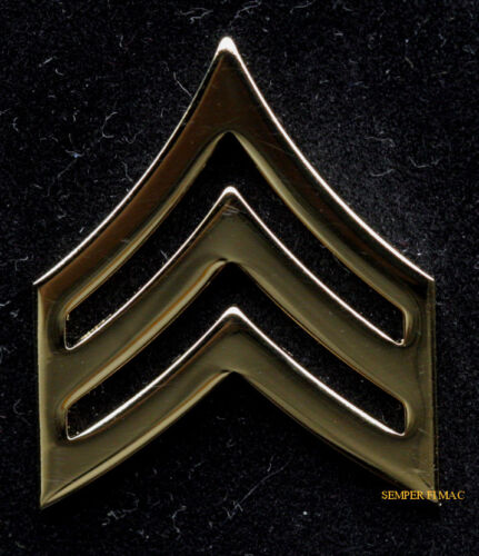 REGULATION US ARMY SERGEANT SET E5 GOLD HAT PIN UP ARMY SGT MILITARY RANK VETArmy - 66529