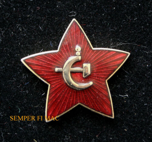 RUSSIAN STAR LAPEL HAT PIN UP SOVIET UNION HAMMER CYCLE ARMY TIE TAC GIFT WOWOther Militaria - 135