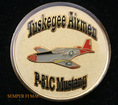 US AIR FORCE TUSKEGEE AIRMEN P-51 MUSTANG CHALLENGE COIN 99th 100th 301st 302NDAir Force - 66528