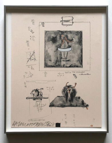 Robert Rauschenberg 1973 S/N Ltd. Ed. Lithograph/Screenprint Framed! JKLFA.com