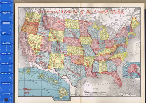 Territorial Growth of the United States - 1895 History Map