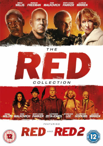 The Red Collection Red 1 + Red 2 (Bruce Willis) Region 2 New DVD (2 Discs)