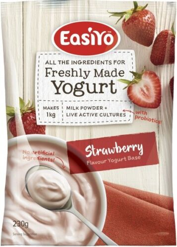 8 x 240g EASIYO Strawberries & Cream Yogurt