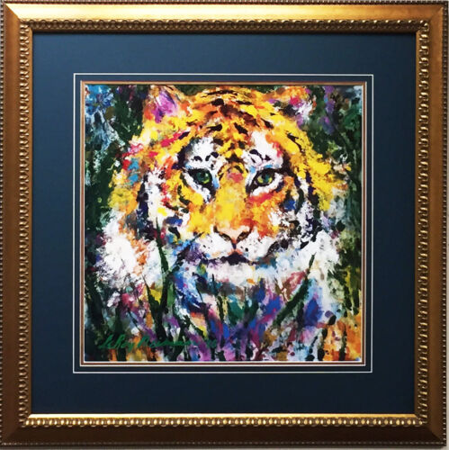"LeRoy Neiman ""Portrait of a Tiger"" Newly CUSTOM FRAMED Art Lithograph ANIMAL"