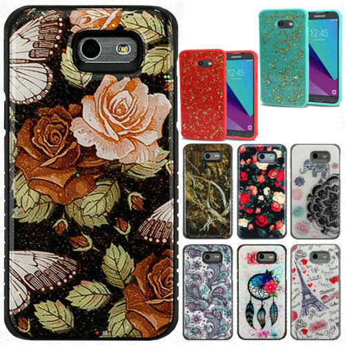 For Samsung Galaxy J3 Luna Pro HYBRID IMPACT Gel Fusion Hybrid Case Phone Cover