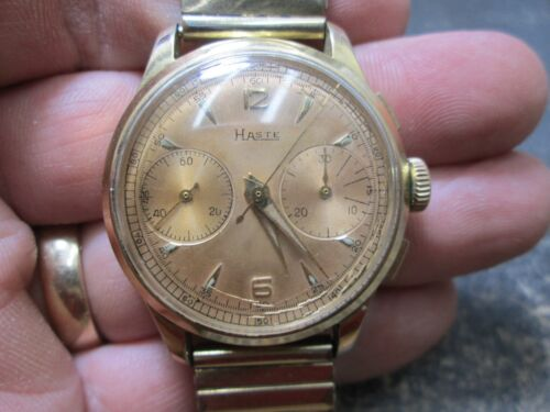 9f389f2ce $650.0 MENS HASTE CHRONOGRAPH 2 REGISTER CLEAN DIAL STAINLESS NONRUNNING  WRIST WatchWristwatches - 31387