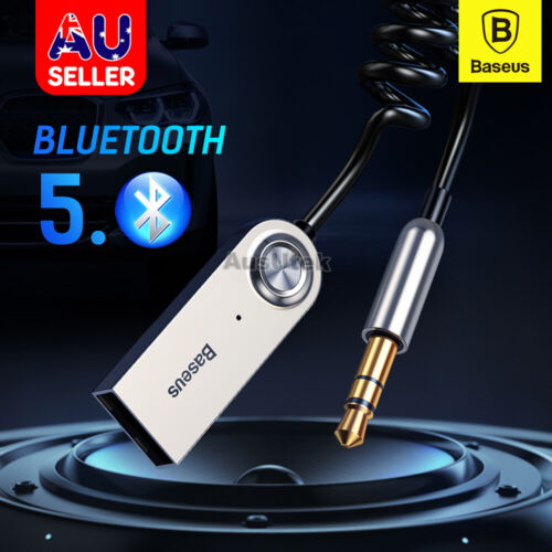 Baseus Wireless Bluetooth 5.0 Receiver Dongle Car AUX 3.5mm Adapter Cable