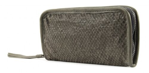 CATERINA LUCCHI Borsa Agnello Zip Wallet Grey