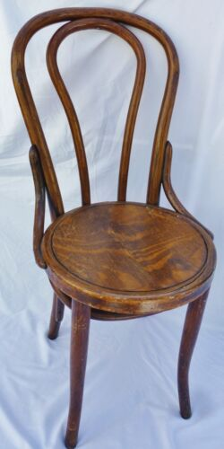 Early Thonet ? Bentwood Parlor Chair Wood Ice Cream Parlor Chair Vintage