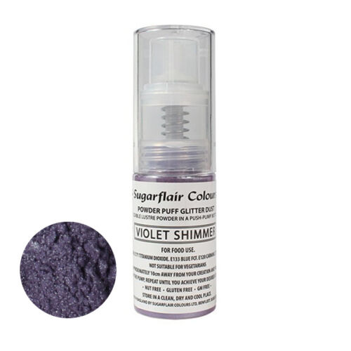 Sugarflair Powder Puff Edible Glitter Spray bez aerozolu 10g - VIOLETTE SCHIMMER