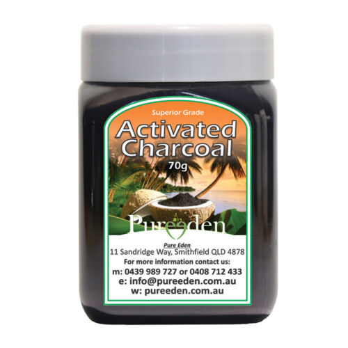 6 x 70g PURE EDEN Activated Charcoal