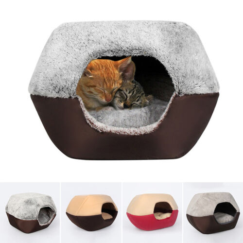 Pet Cat Dog Nest Bed Soft Plush Warm Cave House Sleeping Bag Mat Pad Cushion New