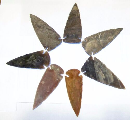 "10  2 3/4"" - 3 1/2"" NEW AGATE ARROWHEADS FOR, JEWELRY, CRAFTS, REPRODUCTION"
