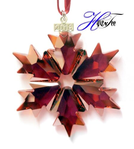2018 HOLIDAY RED STAR ANNUAL EDITION ORNAMENT SWAROVSKI CRYSTAL 5460487