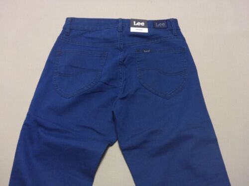 098 WOMENS EX-COND LEE MID LICKS BLUE BARBADOS STRETCH JEANS SZE 9 $160 RRP.