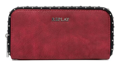 REPLAY Borsa Eco-Leather Wallet Red
