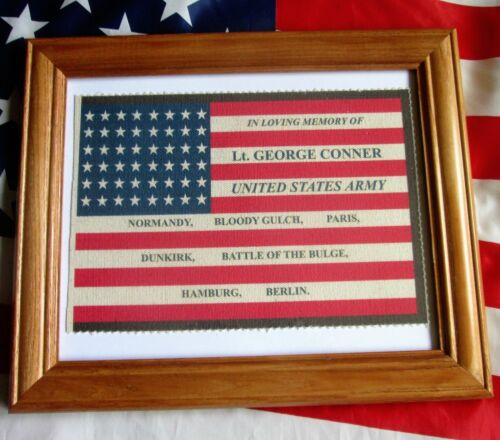 CUSTOM WW2, American Flag, Memorial Flag, Military Mourning Flag, World War TwoOther Militaria - 135
