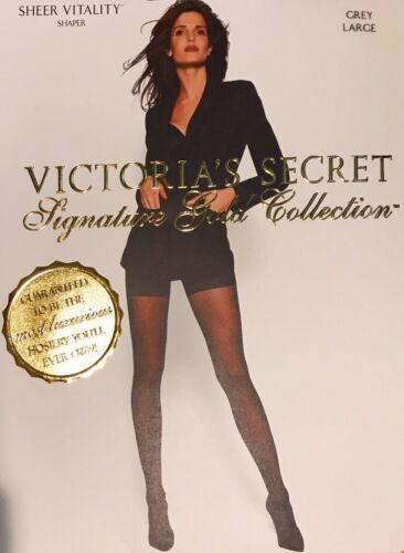 Victoria's Secret Signature Gold Collection Hosiery Sheer Vitality Grey Large