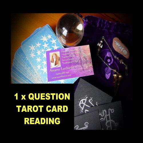 1 x QUESTION TAROT CARD READING OVER THE PHONE  Wicca Witch Pagan