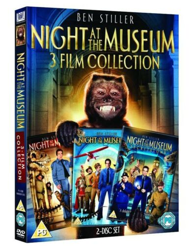 Night at the Museum 1 2 3 One Two Three New Region 4 DVD Box Set