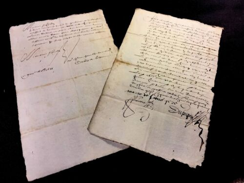 COLLECTION OF TWO LETTERS 1650s