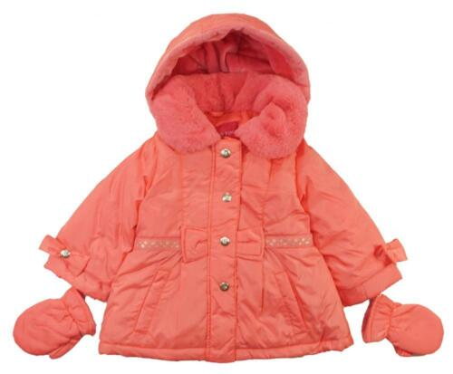 London Fog Toddler Girls Pink Outerwear Coat W/Mittens Size 2T 3T 4T