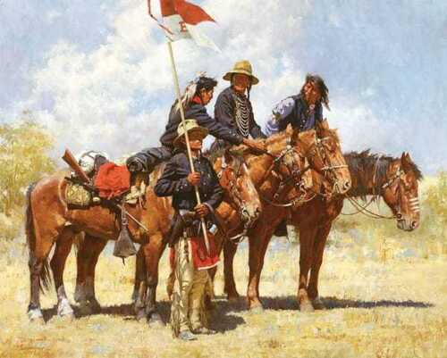 """Howard TERPNING """"  Army Regulations """" Limited Edition Print Native Horse Back"""