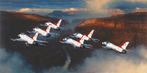 """William Phillips """" Thunder In The Canyon  """" LE edition Giclee Canvas signed"""