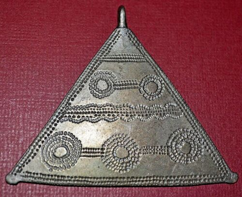 Antique Tuareg Tribal Ethnic Silver Talisman African Amulet Pendant Niger Africa