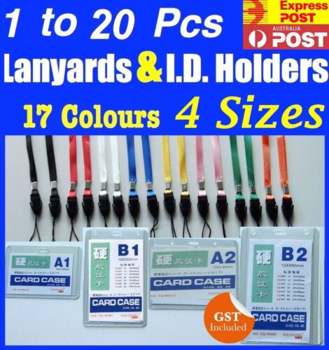 1 to 20 Lanyard With ID Card Holder Neck Strap for Badge Mobile Phone USB Flash
