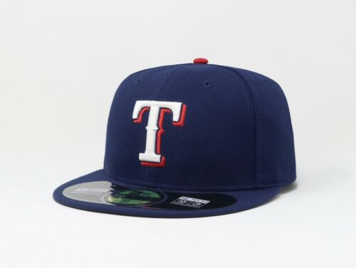 631356ea522be New Era 59Fifty Hat Mens MLB Texas Rangers Royal Blue On Field Fitted 5950  Cap
