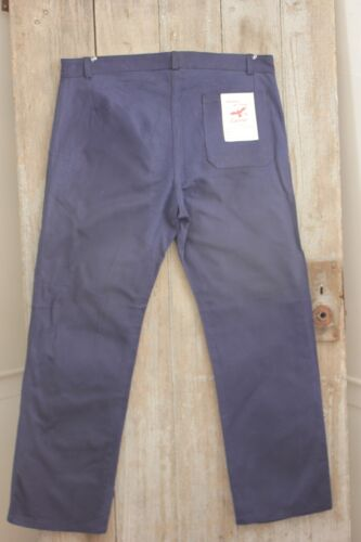 Pants Vintage French workwear chore clothes blue farmers trousers 40 inch waist