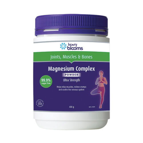3 x 400g Blooms Magnesium Complex Ultra Strength Powder 1.2kg