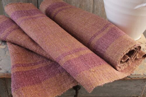 Hemp Fabric Antique dyed Table/Stair runner Natural hand woven 4.5 yards textile