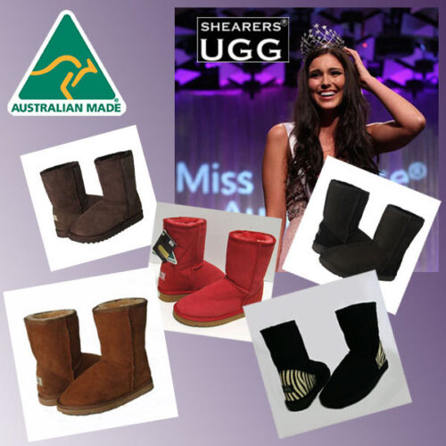 Premium SHEARERS UGG Classic Short Ugg Boots HAND-MADE In Australia with Print