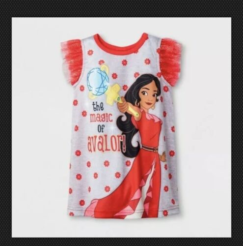 Toddler Baby Girls' Disney Elena Avalor Nightgowns - Red 12M 18M 2T 3T 4T 5T #3