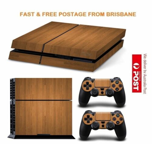Wood PS4 Playstation 4 Console Controller Decal Skin Sticker NEW