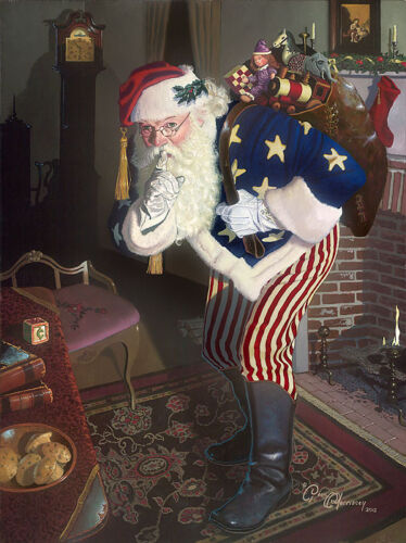 Dean Morrissey PROMISE OF PEACE & TRANQUILITY giclee canvas, Santa Claus