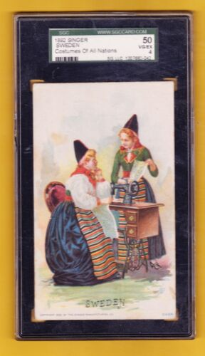 1892 SINGER COSTUMES OF ALL NATIONS SWEDEN SGC 50 VGEX