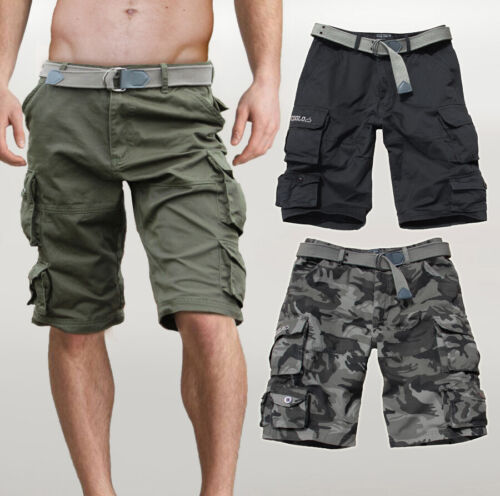 Bermuda Cargo shorts uomo con tasconi multitasche laterali militari Fun Coolo